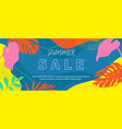 colorful exotic tropic background with monstera vector image vector image