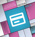 credit card icon sign Modern flat style for your vector image