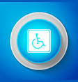 disabled handicap icon wheelchair handicap sign vector image vector image