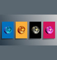 disco ball in various colors set mirrorball vector image vector image