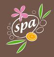 drawn logo accessories for spa salon vector image vector image