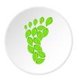 Eco footprint icon cartoon style vector image vector image