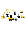 Equipment Builds Calendar for 2016 vector image vector image