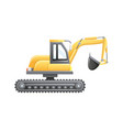 excavator construction and mining vehicle vector image