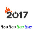fired 2017 text flat icon vector image