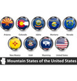 flags mountain states region us vector image vector image