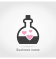 Flask love vector image vector image