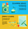 flat cleaning service banners vector image