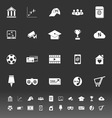 General online icons on gray background vector image vector image
