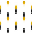 gold nib icon seamless pattern fountain logo vector image