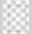 golden shiny vintage square frame isolated on vector image vector image
