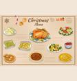 hand drawn traditional christmas vector image vector image