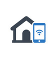 home security mobile alert icon vector image vector image