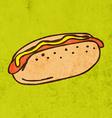 Hotdog Cartoon vector image vector image