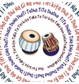 Indian musical instruments - Tabla vector image vector image