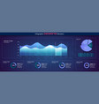 infographic dashboard ui interface information vector image vector image