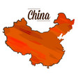isolated chinese map vector image vector image