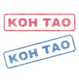 koh tao textile stamps vector image vector image