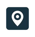 map pin icon Rounded squares button vector image vector image