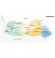 meghalaya administrative and political map india vector image vector image