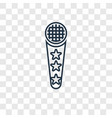 microphone toy concept linear icon isolated on vector image