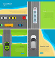 modern highway flat web banners set vector image