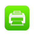modern laser printer icon digital green vector image vector image