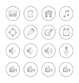Modern social media buttons with soft shadow vector image vector image