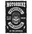 motorbike festival vintage invitation poster vector image vector image