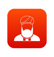 muslim preacher icon digital red vector image vector image