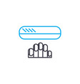 nail care thin line stroke icon nail care vector image