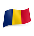 national flag of romania blue yellow and red vector image vector image