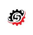 number 5 gear logo design template vector image