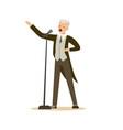 opera singer man wearing an elegant tuxedo vector image vector image
