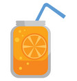 orange juice on white background vector image