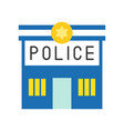 police station police related icon vector image
