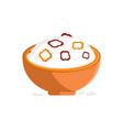 porridge rice and pepper slice vector image vector image