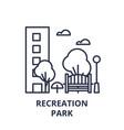 recreation park line icon concept recreation park vector image vector image