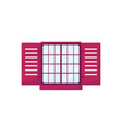 retro window with shutters vector image