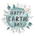 save our planet earth ecology eco environmental vector image
