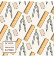 Seamless School or Office Supplies Pattern Thin li vector image vector image