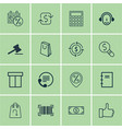 set of 16 e-commerce icons includes gavel vector image vector image