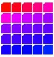 Set of curl flat paper corner vector image vector image
