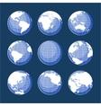 Set of nine globes vector image vector image