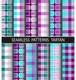 Set seamless pattern tartan vector image vector image