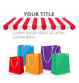 shopping infographic shopping bag background vector image vector image