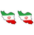 simplified map of iran persia outline with vector image vector image