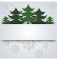 snowflake on a paper background vector image vector image