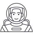 spacemanastronaut in helmet line icon vector image
