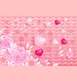 spring background with hearts vector image vector image